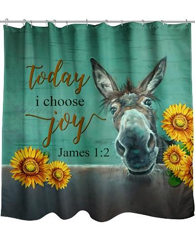 Today I Choose Joy Donkey Shower Curtain YPM0