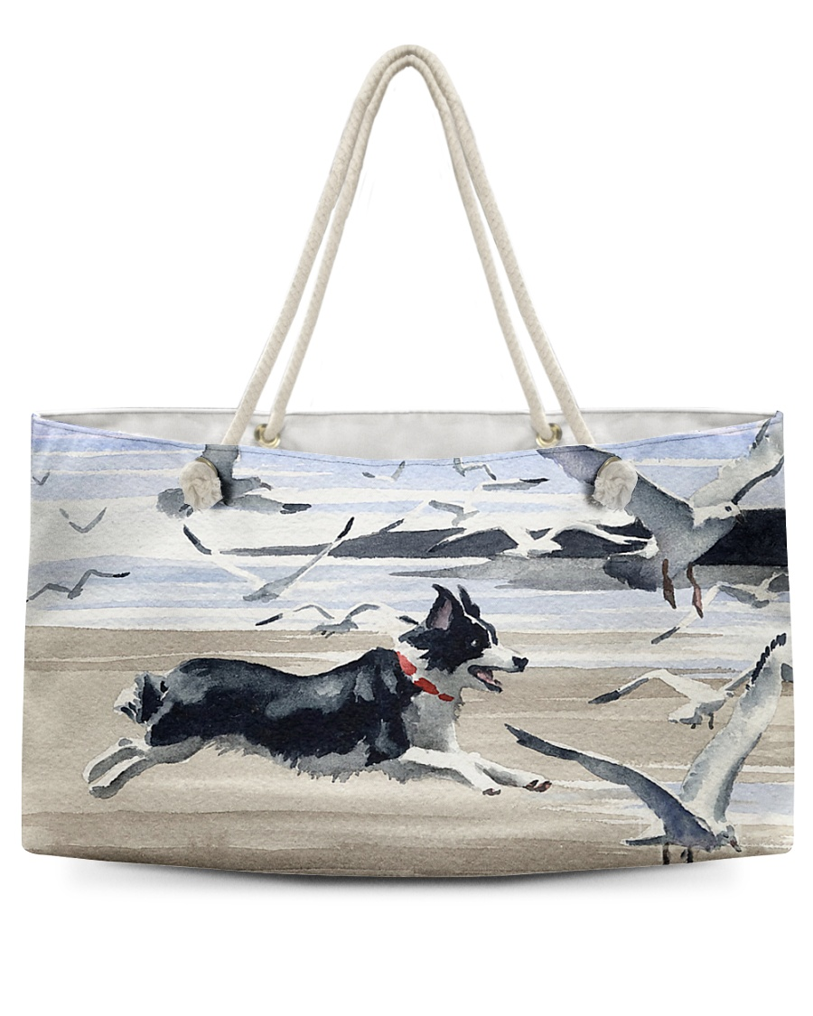 Border Collie Chase Seagull Q09T2 Weekender Tote