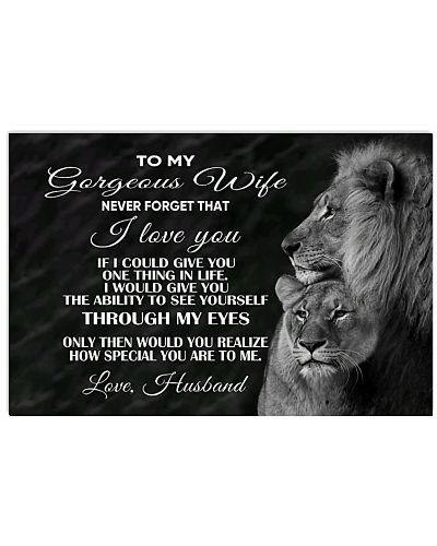 To My Wife Horizontal Poster YTQ2