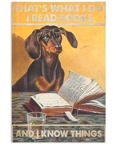 Reading Dog Vertical Poster YNP7
