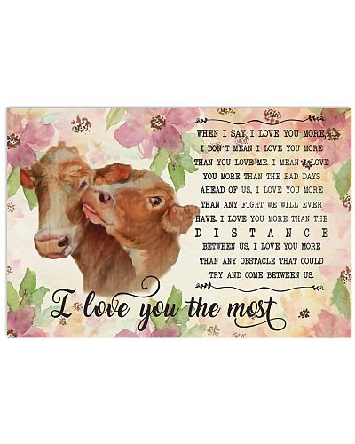 I love you the most Cow Horizontal Poster YLP8