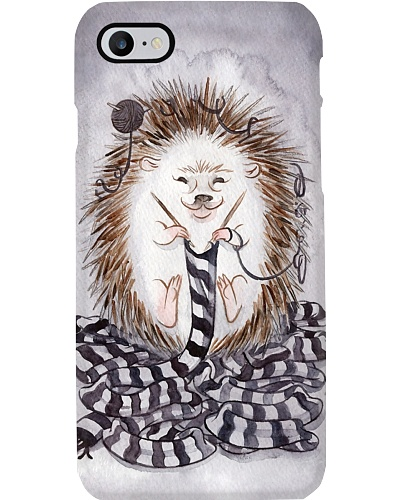 Knitting Hedgehog Phone Case HU29