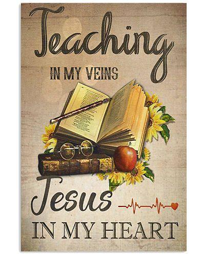 Teaching In My Veins Vertical Poster YDN6