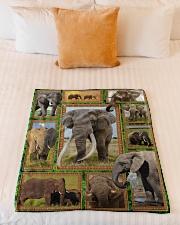 "Elephant M09T9 Small Fleece Blanket - 30"" x 40"" aos-coral-fleece-blanket-30x40-lifestyle-front-04"
