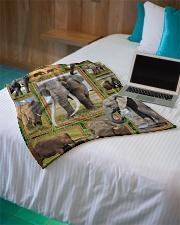 "Elephant M09T9 Small Fleece Blanket - 30"" x 40"" aos-coral-fleece-blanket-30x40-lifestyle-front-10"