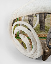 "Elephant M09T9 Small Fleece Blanket - 30"" x 40"" aos-coral-fleece-blanket-30x40-lifestyle-front-18"