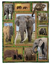 "Elephant M09T9 Small Fleece Blanket - 30"" x 40"" front"