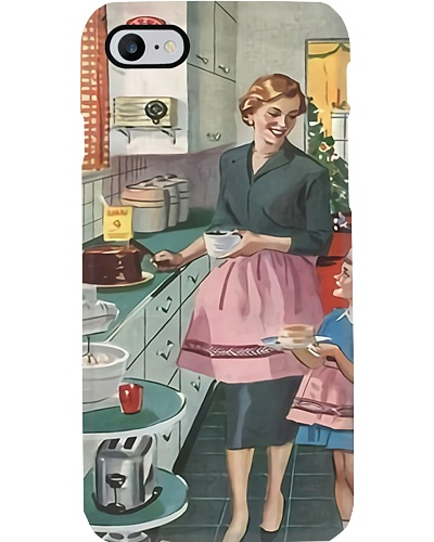 Mother And Daughter Baking Phone Case HT10