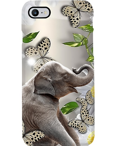 Elephant With Butterflies Phone Case Q22A2