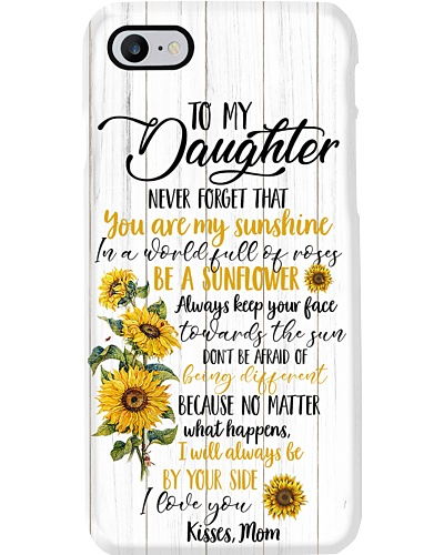 To My Daughter Sunflower Phone Case YCT8