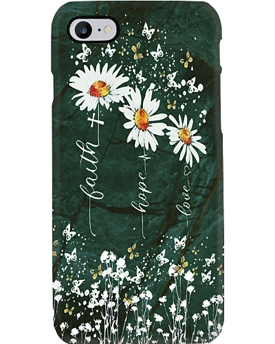Faith Hope Love Daisy Phone Case YBE9