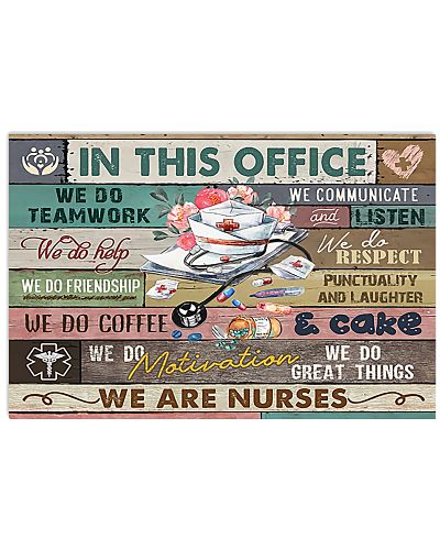 We Are Nurses Horizontal Poster YAV3