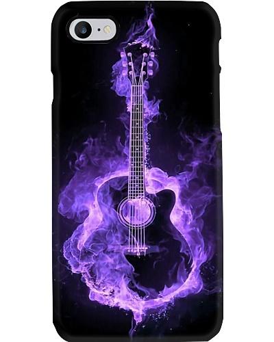 Purple Flaming Guitar Phone Case T19A9