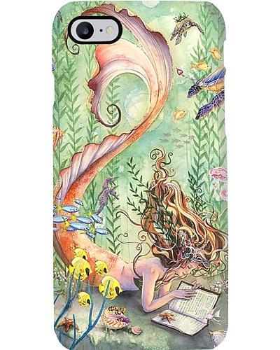 I'm A Bookaholic Mermaid Phone Case YTM6
