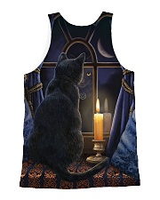 Cat In The Night Tank Top QE25 All-over Unisex Tank back