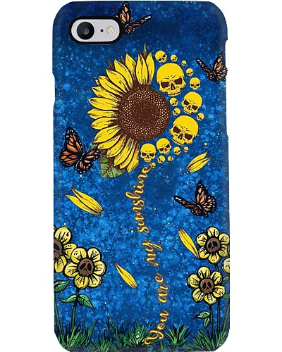 Sunflower Skull Phone Case YCA1