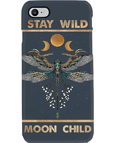 Stay Wild Moon Child Dragonfly Phone Case YPM0