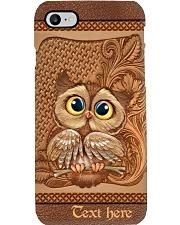 Cute Owl Personalized Phone Case Q22A2 Phone Case i-phone-8-case