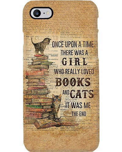 A Girl Who Loved Books And Cats Phone Case YVY9