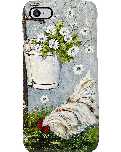 Rooster Flowers Phone Case CH03