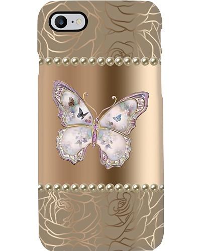 Pink Butterfly Gem Phone Case HU29