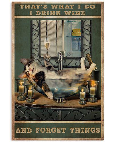Cat Wine Vertical Poster YHH5