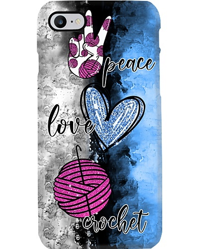 Peace Love Crochet Phone Case HU29