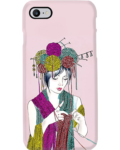 Knitting Girl Phone Case L09F2