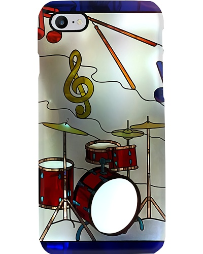 Stained Glass Drum Phone Case LA99