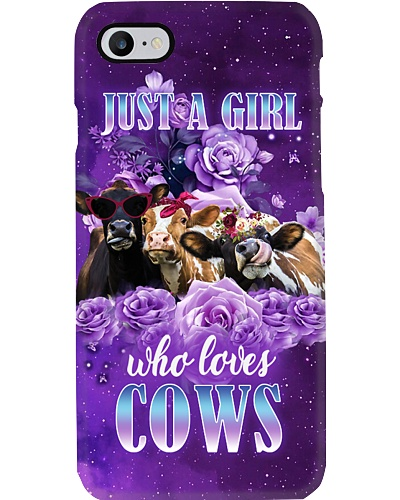 Just A Girl Who Loves Cows Phone Case YLT6
