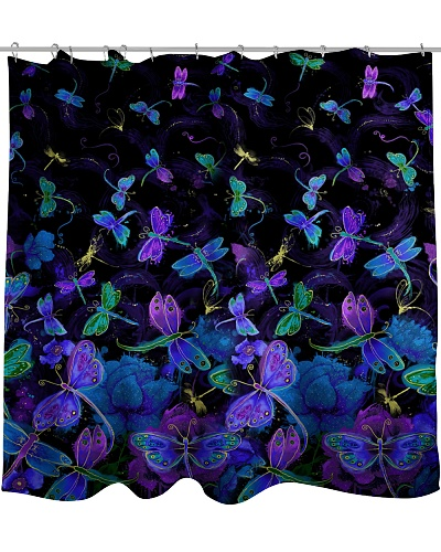 Luminous Dragonfly Shower Curtain YHN2