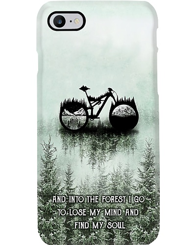 Into The Forest I Go Bicycle Phone Case YHN2