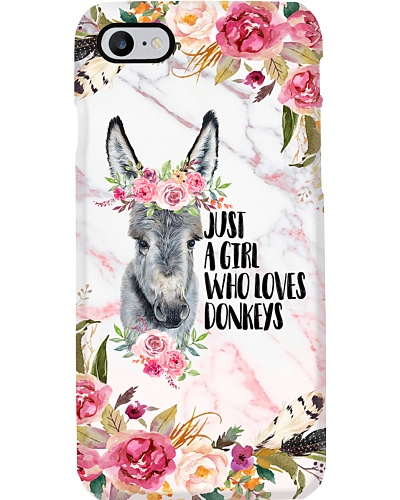 Just A Girl Who Loves Donkeys Phone Case T19A9