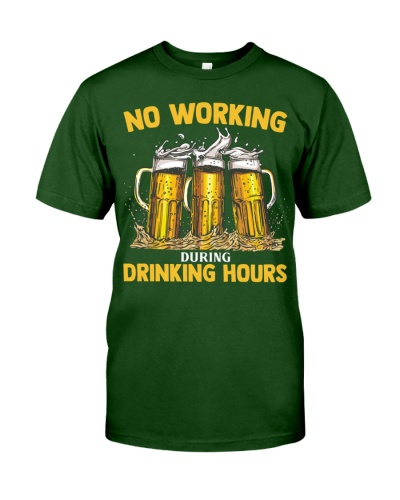 Beer Drinking Hours T Shirt HU29