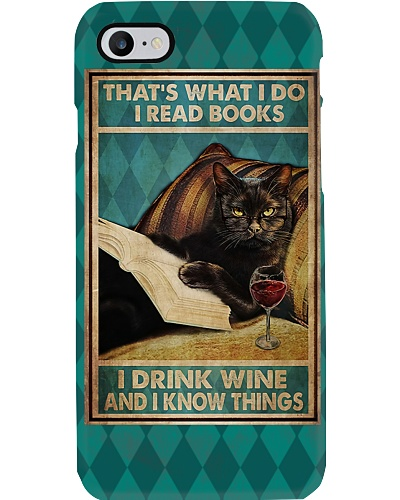 Read Books And Drink Wine Phone Case YLT8
