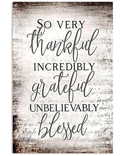 Thankful Grateful Blessed Vertical Poster YTV5