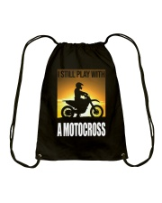 I STILL PLAY WITH MOTOCROSS Drawstring Bag thumbnail