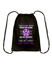 EARTH - WATER - AIR - FIRE Drawstring Bag tile