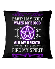 EARTH - WATER - AIR - FIRE Square Pillowcase thumbnail