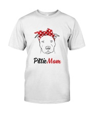 Pittie Mom So Cute Classic T-Shirt front