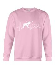 Schnauzer Heartbeat Crewneck Sweatshirt tile