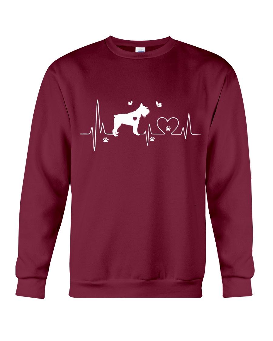 Schnauzer Heartbeat Crewneck Sweatshirt