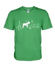 Schnauzer Heartbeat V-Neck T-Shirt thumbnail