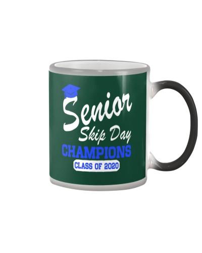Senior 2020 Skip Day Champions white blue