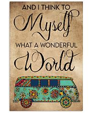 AND I THINK TO MYSELF WHAT A WONDERFUL WORLD 11x17 Poster front