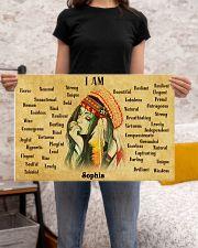 NATIVE GIRL - I AM  - CUSTOM NAME 24x16 Poster poster-landscape-24x16-lifestyle-20