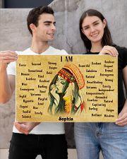 NATIVE GIRL - I AM  - CUSTOM NAME 24x16 Poster poster-landscape-24x16-lifestyle-21