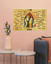 NATIVE GIRL - I AM  - CUSTOM NAME 24x16 Poster poster-landscape-24x16-lifestyle-22