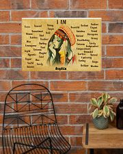 NATIVE GIRL - I AM  - CUSTOM NAME 24x16 Poster poster-landscape-24x16-lifestyle-24