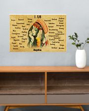NATIVE GIRL - I AM  - CUSTOM NAME 24x16 Poster poster-landscape-24x16-lifestyle-25